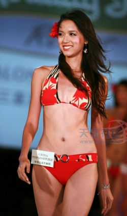 Celebrity photos - Miss World 07 - Zhang Zilin - Bikini