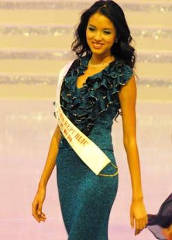 Celebrity photos - Miss World 07 - Zhang Zilin - Dress3