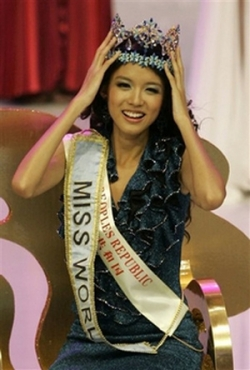 Celebrity photos - Miss World 07 - Zhang Zilin - crown