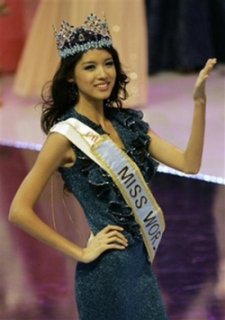 Celebrity photos - Miss World 07 - Zhang Zilin - crown2