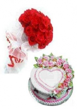 Flower pictures - Rose and Cake