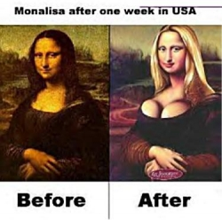Funny photos - Mona Lisa