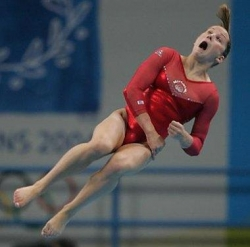 Funny photos - Gymnast face