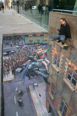 Funny photos - Pavement art