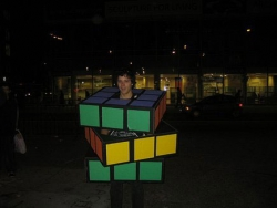 Halloween pictures - Rubik's cube costume