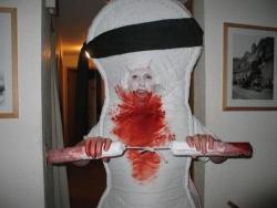 Halloween pictures - Ninja tampon costume