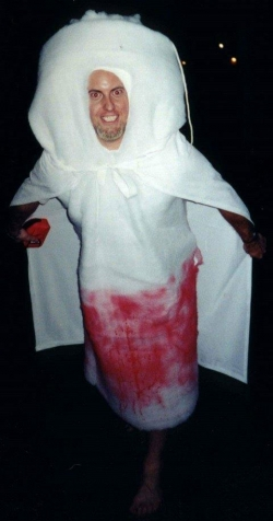 Halloween pictures - Bloody tampon costume
