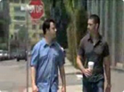 Funny man videos - Matthew Fox and Jimmy Kimmel's Staring Contest