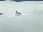 Funny sports & games videos - Ski Jump Crash Landing