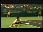 Funny sports &amp; games videos - Amazing Tennis Shot! Can You Do That