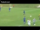 Funny football videos - Trick Soccer Throw-In Destroys Kid