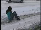 Funny car videos - Funny Lucky Accident Woman Dives out of Car