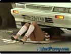 Funny sexy videos - Naked and Funny Beware of Automobile 1021