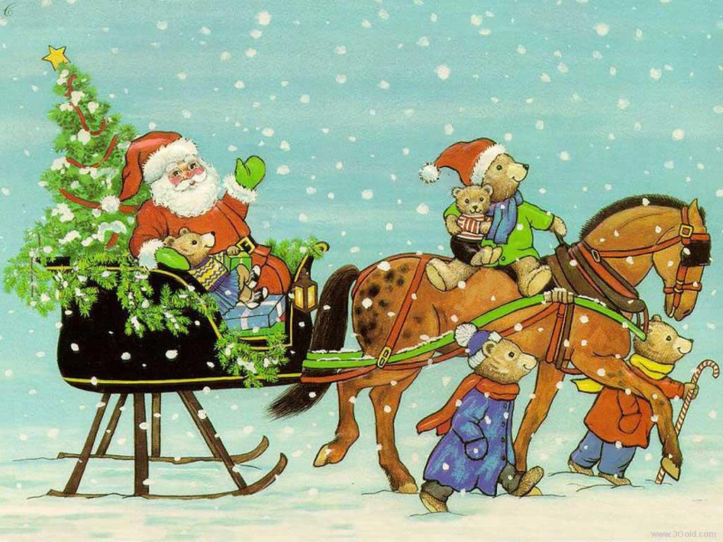 Santa goes on