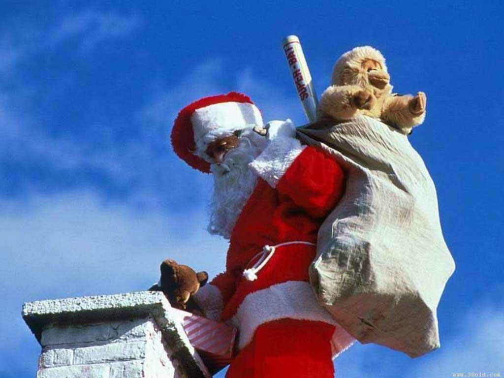 Santa comes