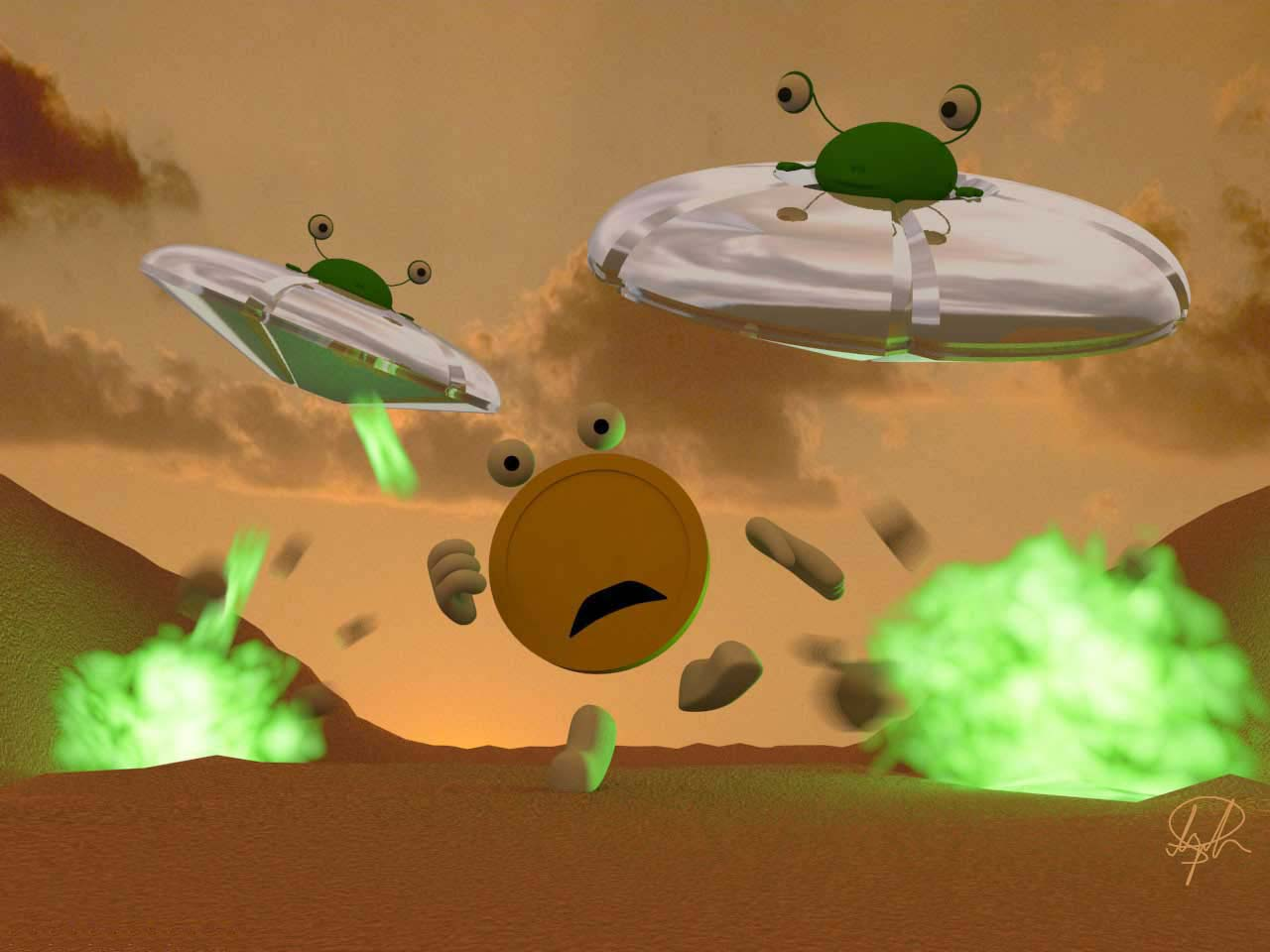 Escape space war