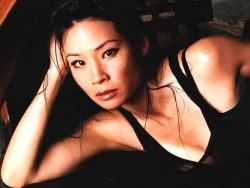 Lucy Liu in black