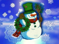 Christmas Wallpaper - Christmas Snowman