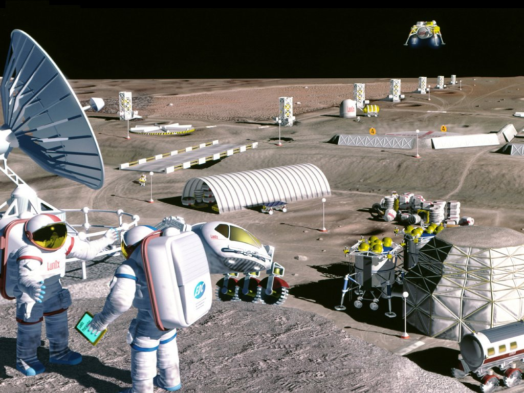Space Fiction Lunar mining