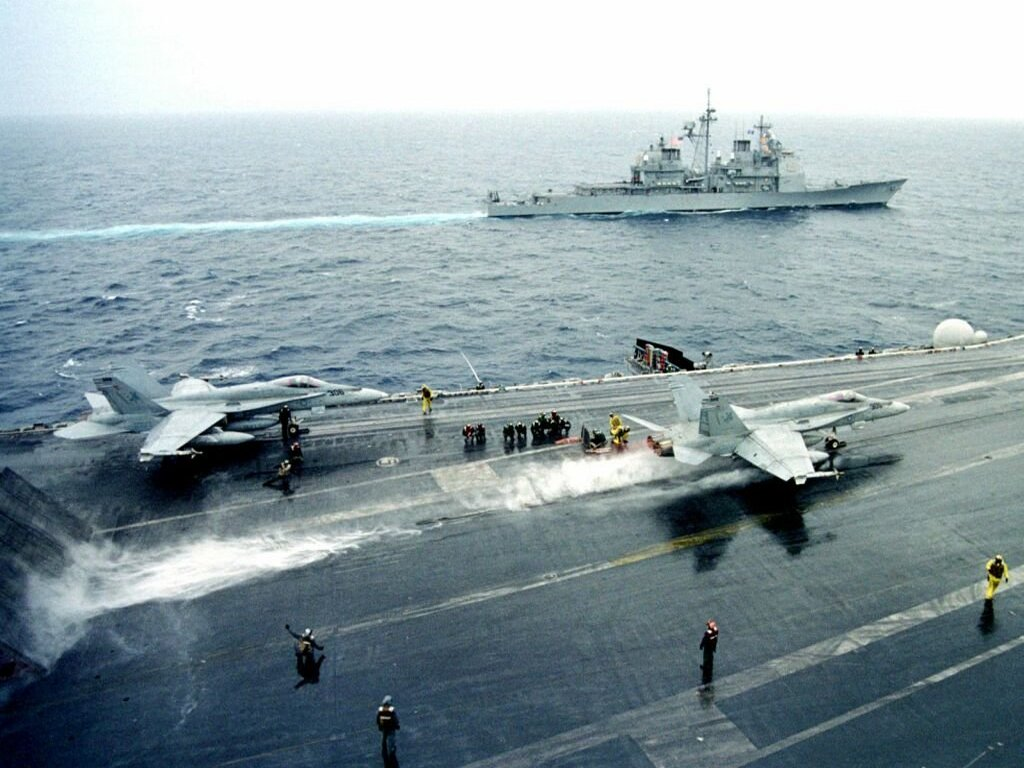 F18 on carrier