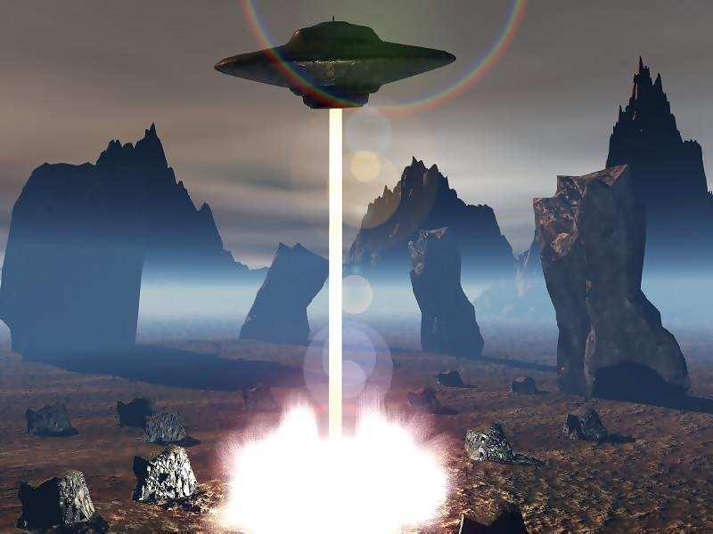 Spaceship land on