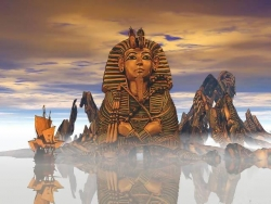 3D and Digital art Wallpaper - The Sphinx