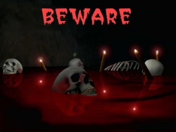 3D and Digital art Wallpaper - Beware - skull