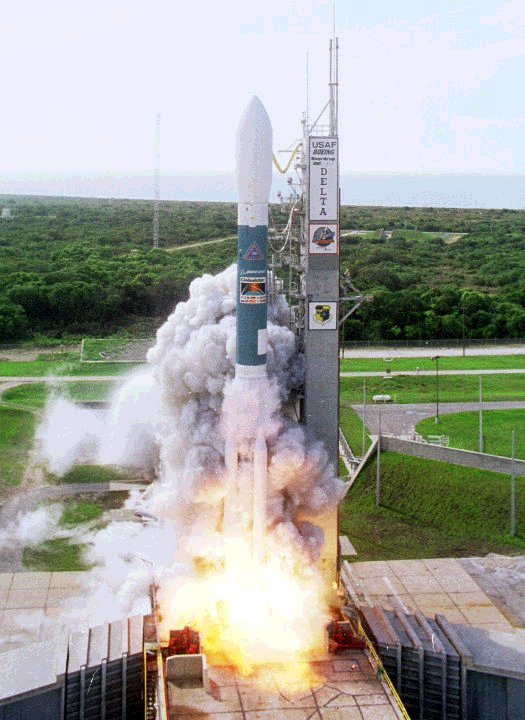 Delta shuttle launch
