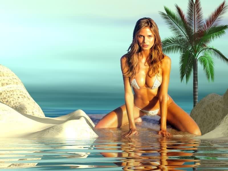 Silver bikini
