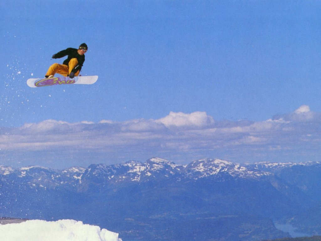Sky skiing