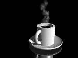 3D and Digital art Wallpaper - Cup of coffee