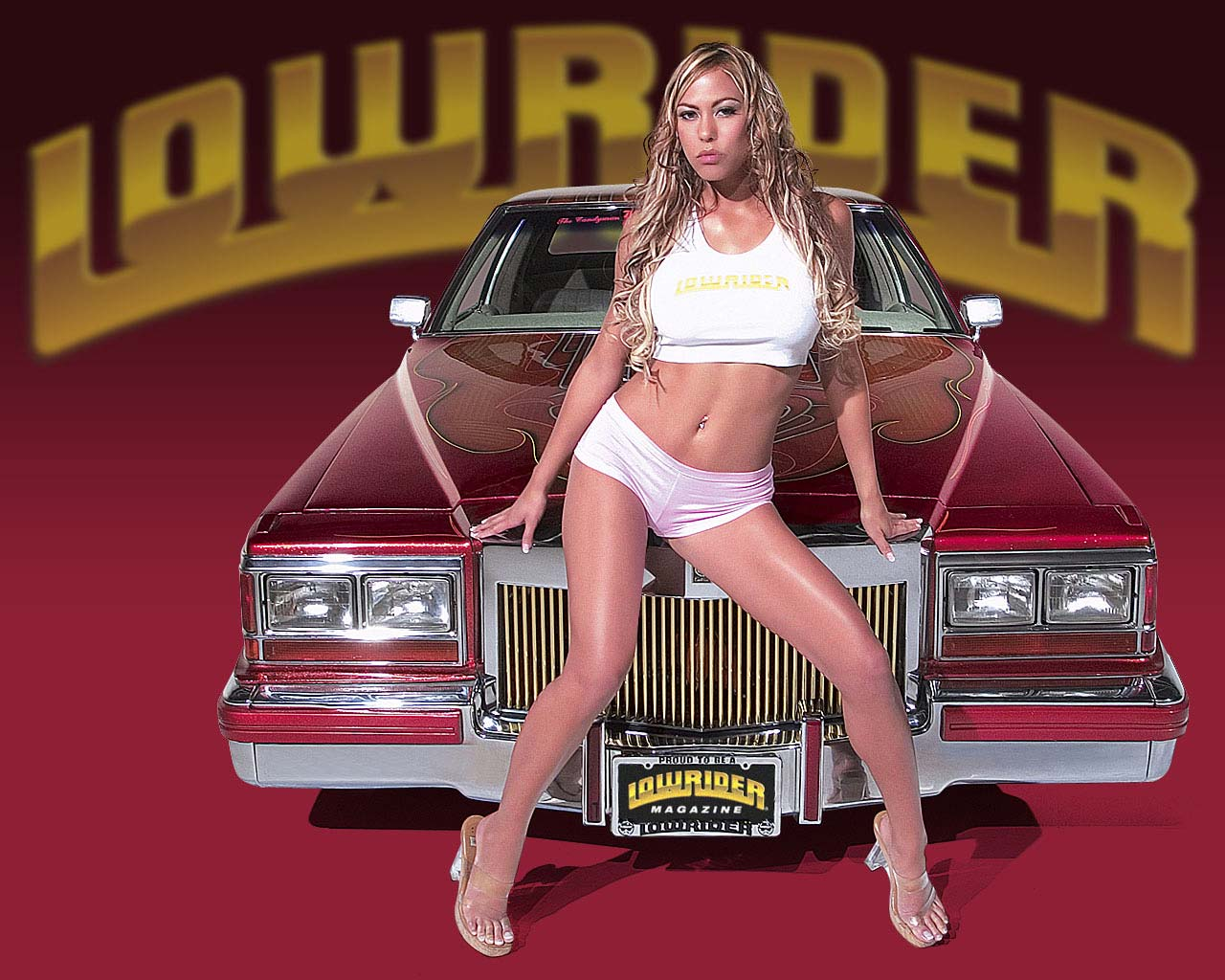 Super girl with super car