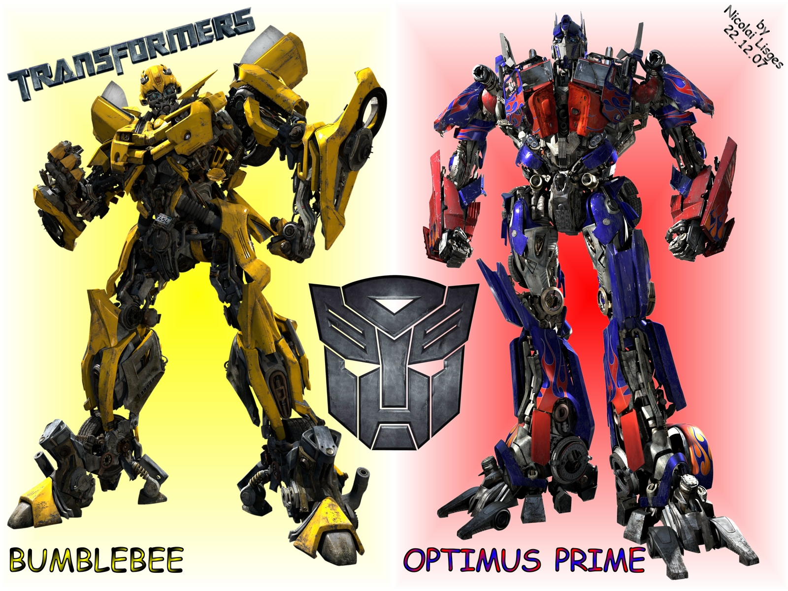 A tribute to Optimus and Bumblebee