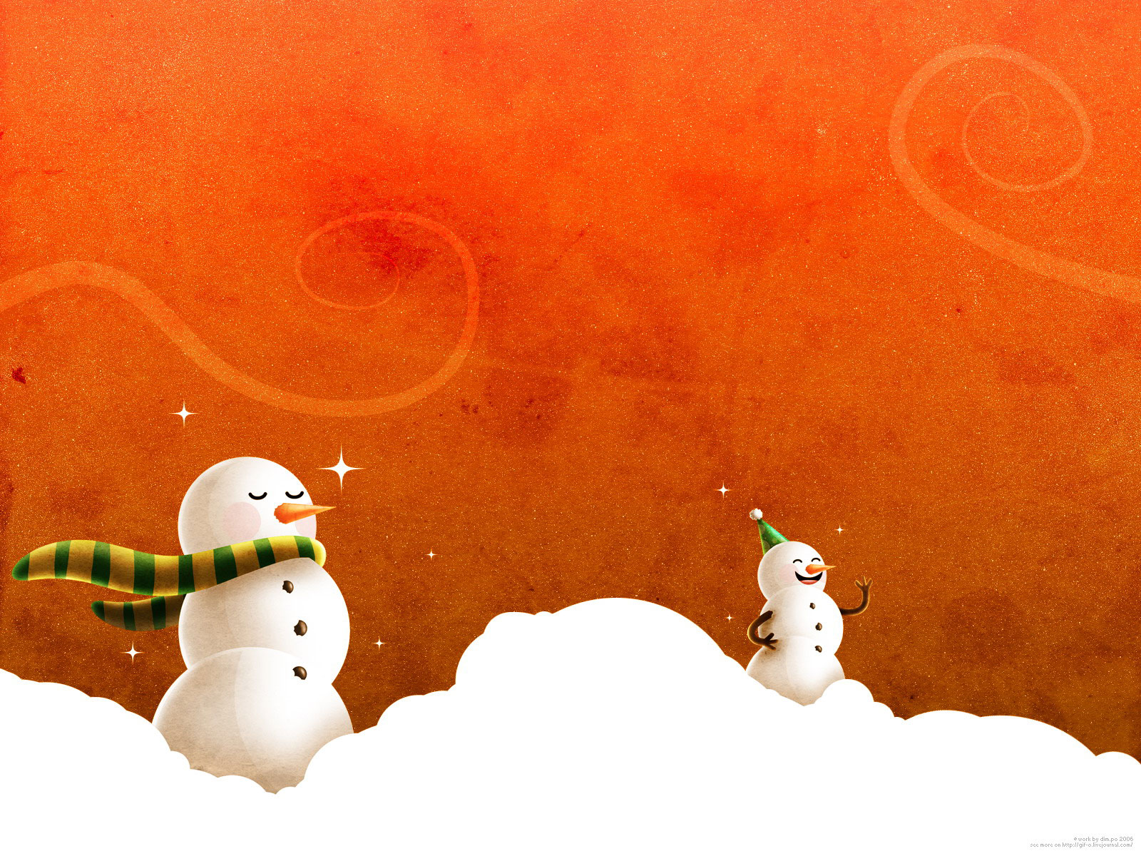 Snow man - cool wallpaper