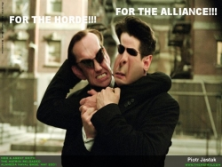 Celebrity Wallpaper - Neo & Agent Smith