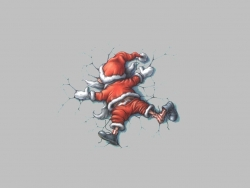 Animated/Cartoon Wallpaper - Santa n accident