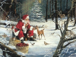 Christmas Wallpaper - Santa's place