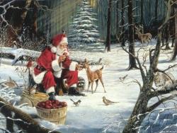 Christmas Wallpaper - Santa's place
