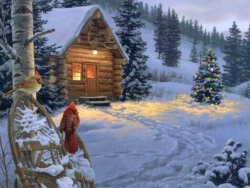 Christmas Wallpaper - Little house