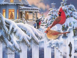 Christmas Wallpaper - Xmas birds
