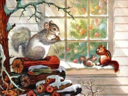 Animated/Cartoon Wallpaper - Squirrel' family