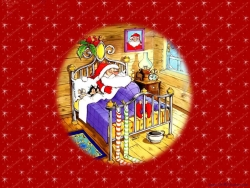 Christmas Wallpaper - Sleeping Santa
