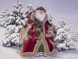 Christmas Wallpaper - Indulgent Santa