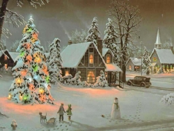 Christmas Wallpaper - Xmas scene