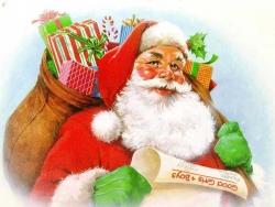 Christmas Wallpaper - Santa list