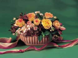 Flower Wallpaper - A rose basket