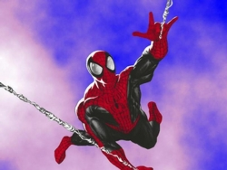 Movie Wallpaper - Flying spiderman