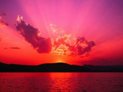 Nature Wallpaper - Red sunset