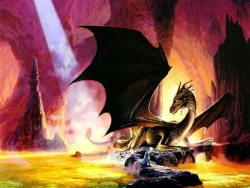 3D and Digital art Wallpaper - Magic dragon
