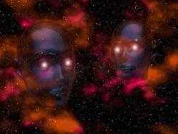 Space Wallpaper - Alien heads
